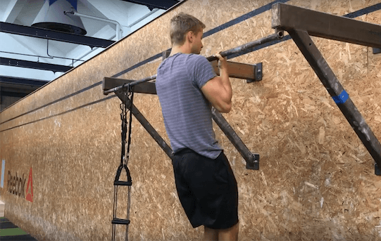 personlig træning i københavn Niels' Training udfører chin up og pull up