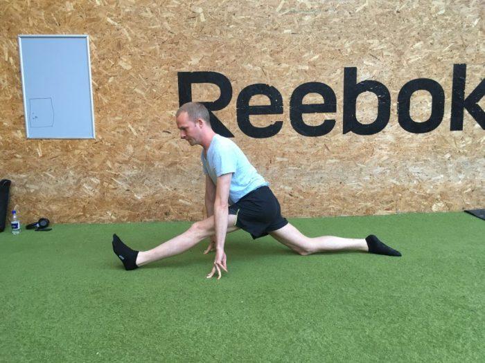 split og spagat fremgang efter personlig træning